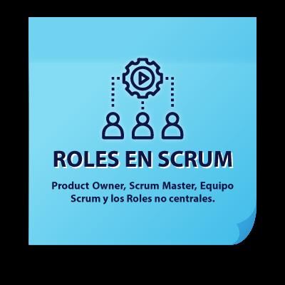 roles principales en scrum