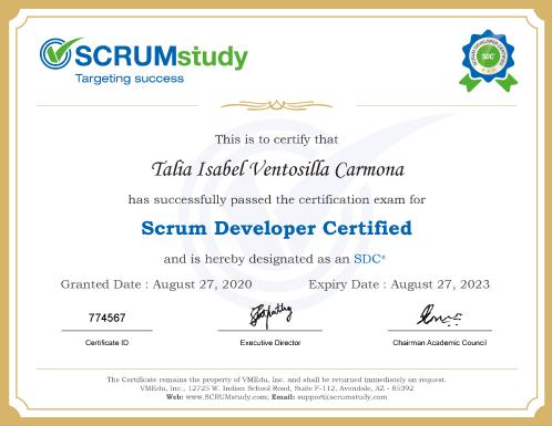 scrum developer certified