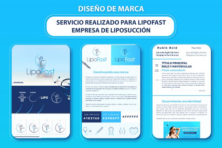 diseño de branding corporativo para la marca lipofast lima