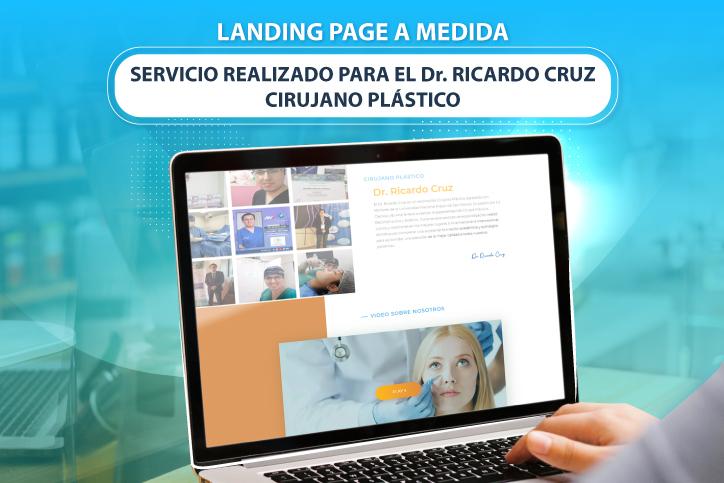 diseño de landing page a medida para ricardo cruz cirujano plastico